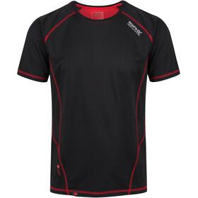 Regatta Virda II Camiseta Hombre, black/classic red